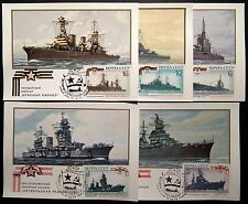 Russia Rossija Россия vessels Maximum Card MC Set of 5 Lot collection (MK2