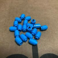 4x brick round brick round open stud 1x1 dark  blue//dark blue 3062b NEW Lego