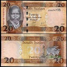 SOUTH SUDAN 20 POUNDS UNC # 491