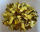 High quality Football Basketball Party Halloween Cheerleader 2 PomPoms Gold