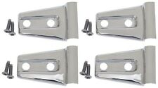 Jeep Wrangler JK Door Hinge Overlay 4pc 2Dr Polished Stainless 2007-2016 30020