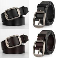 Mens Metal Pin Buckle Black Coffee Leather Belt Waistband Strap Waist Jewelry