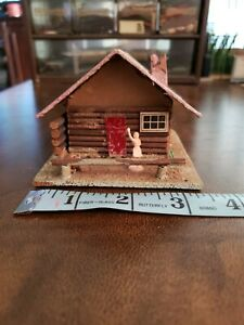 HO Scale Log Cabin Partially Completed