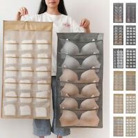 1pc Non Woven Fabric Hanging Storage Bag Double Sided Clothes Socks Home Case