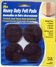 """1½"""" Round Brown Adhesive Backed Felt Pads"""