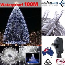 500LED 100M Cool White Fairy Christmas String Strip Lights Wedding Party Outdoor