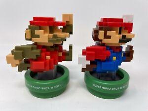 Amiibo Super MARIO 30th Anniversary 8-Bit lot of (2) Nintendo-Loose