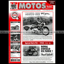 MOTOS D'HIER N°126 MAÏCO 400 TAÏFUN ROYAL ENFIELD BOL D'OR 1928 TANDEM DERNY