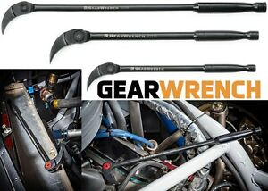 """Gearwrench 82301 3 Pc. Indexing Pry Bar Set 8"""", 10"""" & 16"""" New Free Shipping USA"""