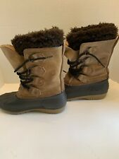 Sorel Badger Women's Brown Suede Snow Boots Size 5