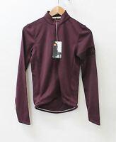 RAPHA Men's Purple Long Sleeve Wool Blend Full Zip Cycling Jersey XS BNWT