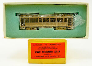SUYDAM HO SCALE 530 BRASS WOOD INTERURBAN COACH UNPAINTED