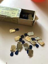 Vintage Cook's File Signals Dark Blue Metal Box - 75 in box Metal No. 2 Astonia