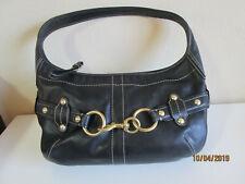 Coach Black Leather Ergo Hampton 11261 studded Shoulder Bag Purse EUC