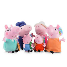 "6Pcs Peppa Pig Family Plush Doll Stuffed Toy 12"" GrandPa Dad Mom 8"" PEPPA GEORGE"