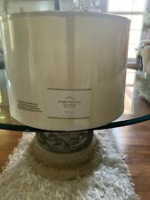 Pottery Barn Linen Straight Sided Drum Shade Medium In Ivory 13.5' New