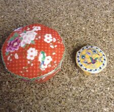 Cloisonné / Silk Road Takahashi, San Fran. 1981 Japan  Hand Deco. Trinket Boxes