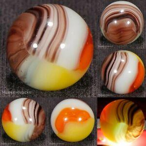 STUNNING Vitro Agate STRIATED Tri Lite Vintage Marble 5/8 NM+ hawkeyespicks sg