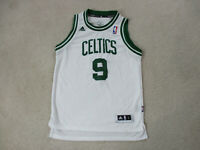 Adidas Rajon Rondo Boston Celtics Basketball Jersey Youth Large White Green Kids