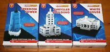 3 Mini Blokko Building Sets Freedom Tower Chrysler Building White House NEW