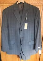 NWT $450 MICHAEL KORS Kerr Wool 2-Piece Suit brown plaid Mens 42R Reg 35W NEW
