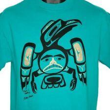 Raven Haida T Shirt Vintage 90s Sitka Alaska West Coast Art Mark Natkong Medium