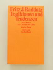 Fritz J Raddatz Traditionen und Tendenzen Literatur der DDR Zweiter Band