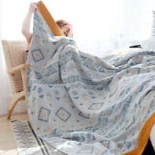 Blanket Summer quilt Bed cover bed sheet pure cotton 5layers gauze towel blanket