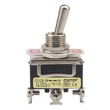 3PDT Interruptor de palanca ON-OFF-ON de 3 pines 5Pc s ON-OFF-ON Interruptor de palanca de 3 posiciones Interruptor de control de 3 pines 12 mm 15A 250VAC Interruptor de palanca de 3 pines y