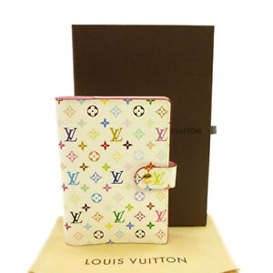 Authentic LOUIS VUITTON Agenda PM Day Planner Cover Multi-Color R21074 #S408138