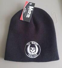 NWT MisfitsFiend Club Black Embroided Beanie Hatcrimson skulldanzig