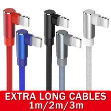 90 ° grado Rayo trenzada USB cable cargador para iPhone 11 X plomo de carga rápida
