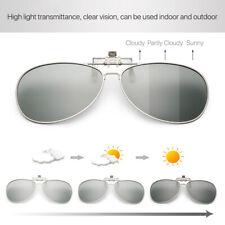 Polarized Photochromic Sunglasses UV400 Fishing Transition Lens Glasses Clip on