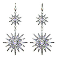 Kirks Folly Mystic Star Leverback Earrings (Antique Silvertone)