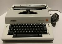 Vintage Olympia Report Electric Typewriter Model SKE Working With Hard-case!