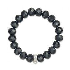 Thomas Sabo Medium Sterling Silver Obsidian Bracelet