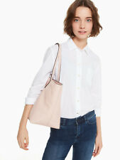 NWT Kate Spade Larchmont Avenue Penny Pink Beige Leather Tote WKRU5374