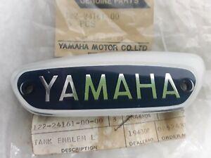 YAMAHA NOS 122-24161-00 LEFT TANK EMBLEM BADGE YG1T 65 YG1TK 63 TRAILMASTER