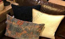 Pottery Barn Dara Lumbar Pillow Cover Blue 16x26 Persian Velvet Rug Style Floral