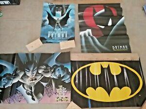4 Batman Promo Posters: Mask of The Phantasm/Animated Series/Bat symbol/Comics