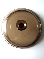 "Replacement Amber Casserole Lid Inner Rim 7 3/8"" "" Outer Rim 7 3/4""  V 2.5 C"