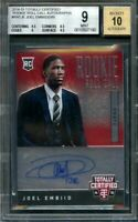 2014-15 totally certified rookie roll call auto #rrcje JOEL EMBIID rc BGS 9 auto