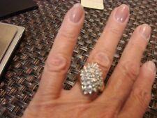 waterfall cluster 14kt diamond ring  3/4+ karat diamond size 5.5