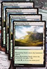 MTG 4x BLOSSOMING SANDS - M/NM - ETERNAL MASTERS Common Land (Playset)
