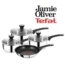 Tefal JAMIE OLIVER 4pc SAUCEPAN & Non Stick FRYING PAN Suitable for all cookers