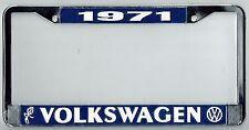 1971 Volkswagen VW Bubblehead Vintage California License Plate Frame BUG BUS T-3