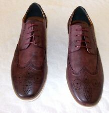 NEW Socal Shoes Mens Semi-Formal Derby Shoes - Burgundy - Size:12