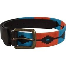Shires Moreno Argentinian Polo Belt Kingfisher 90cm (35mm Thick)