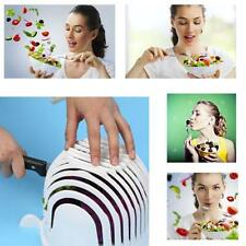 60 Second Salad Maker Cutter Bowl Healthy Fresh Salads Made Easy Tool Slicer