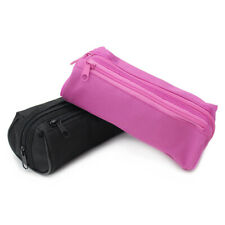 Black/Pink Barrel Teenager 2 Zip Back to School Pencil Case - FAST FREE DELIVERY